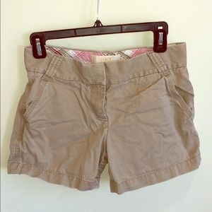 "J. Crew 5"" chino shorts in khaki"